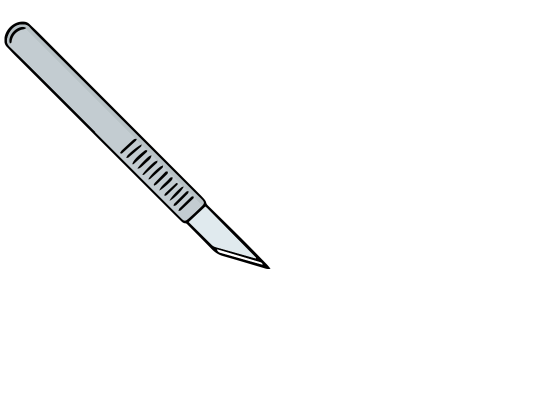 illustration of a scalpel
